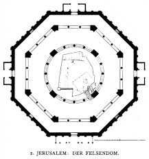 floor plan of mosque the dome of the rock and the sun star and cross at nazca