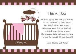 thank you cards baby shower awesome wooden what to write in a baby shower thank you card frame