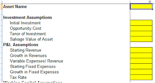 Project Finance Term Sheet Exle by Building Inputs Assumptions Sheets Excel Financial Modeling