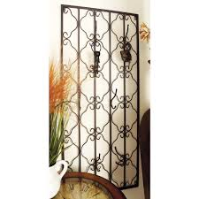 wrought iron room divider liberty 6 1 3 in black wall hook with pink flower b35577c mul u