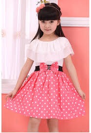 Fashion Trends Cute Kids Casual Dress Combined With Lovely White