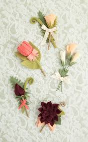 how to make boutonnieres how to make the most gorgeous felt wedding bouquet