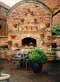 built in brick fireplaces outdoor creative fireplaces design ideas