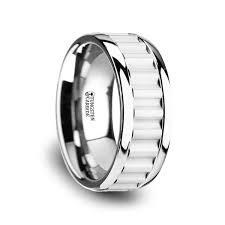gear wedding ring thorsten cutlass tungsten carbide wedding band with gear teeth