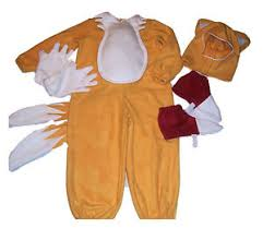 tails fox sonic the hedgehog 4 pc costume halloween hat shoe glove
