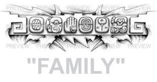 family mayan glyphs design b aztec tattoos aztec