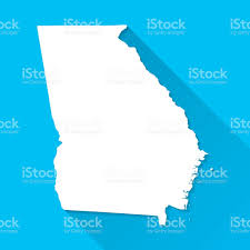 Atlanta Georgia Map Georgia Map On Blue Background Long Shadow Flat Design Stock