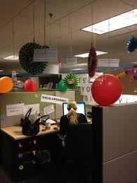 Ideas For Decorating An Office Birthday At Work Office Birthday Office Decoration Pinterest