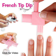 french tip dip french manicure u0026 pedicure kit as seen on tv hsn