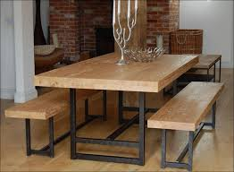 wood and wrought iron table kitchen steel dining table kitchen utility table corner kitchen