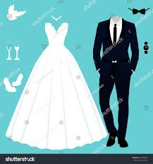 Bride To Groom Wedding Card Wedding Card Clothes Bride Groom Wedding Stock Vector 718782493