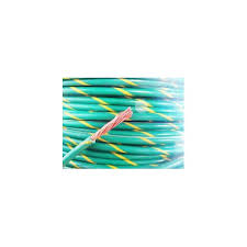 ground wire yellow green stripe 18awg per foot s electronic
