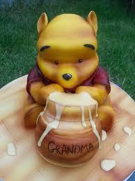 cuddly charming winnie pooh cake designs