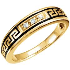 American Wedding Rings by Native American Style Wedding Ring Set Band In Yellow Gold