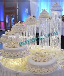 cake stands wholesale new product acrylic chandelier wedding cake stand