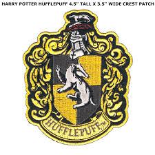 harry potter house hufflepuff crest iron on patch badge emblem