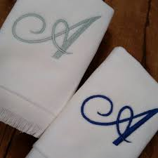 fingertip towel monogrammed fingertip towels personalized towels