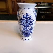 Blue Flower Vases Portugal Art Pottery Small Bud Vase Blue From Morethebuckles On