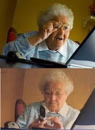 Internet Grandma Meme - i found the grandma finds the internet meme in my textbook album