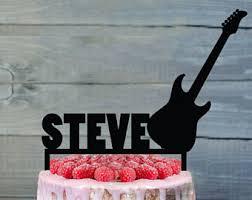 guitar cake topper guitar cake topper etsy