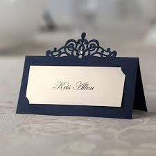 Place Cards Wedding Blue Laser Cut Place Cards Wedding Name Cards Paper Party Table