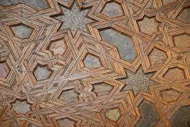 wooden ceiling pattern picture of the alhambra granada