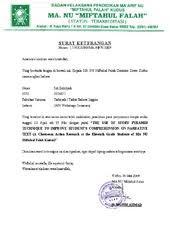 surat pra penelitian