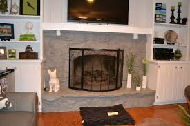 spectacular white mantel tv storage and black iron painted