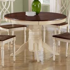 shop monarch specialties antique white walnut round dining table