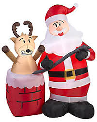 Inflatable Firefighter Christmas Decorations by Christmas Inflatables Inflatable Outdoor Christmas Decorations