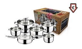 batterie cuisine en batterie de cuisine blaumann 12 pièces groupon