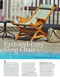 sling chair plans