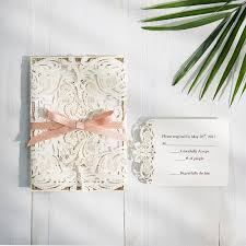 paper for wedding invitations exclusive ivory laser cut wedding invitation with glitter