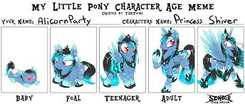 Best Mlp Memes - mlp character age meme by alicornparty on deviantart