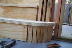 round stair tread and riser