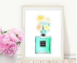 chanel perfume bottle coco chanel print printable art