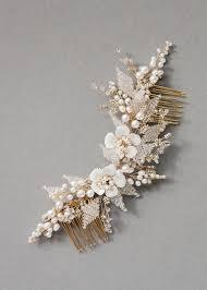 hair broach floral wedding hair comb tania maras bespoke wedding