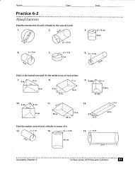 surface area of prism worksheet worksheets