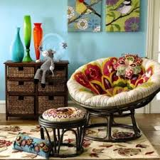 Papasan Ottoman Papasan Chair With Ottoman And Floral Cushion Classic Papasan