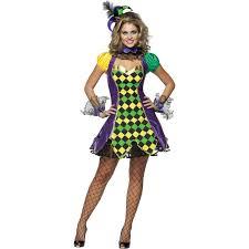 scarecrow halloween costume mardi gras jester woman costume buycostumes com