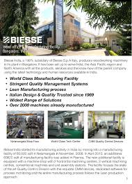 Woodworking Machinery In India by Biesse India Company Profile