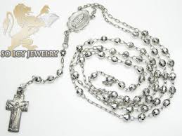 white gold bead necklace images Rosary gold necklaces rosary chains rosary diamond cut beads jpg