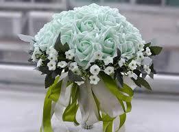 wedding bouquets cheap mint white cheap bridal wedding bouquets artificial