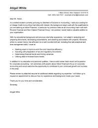 accounting internship cover letter no experience 28 images