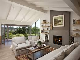 contemporary living room with fireplace home design ideas