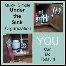 Under The Kitchen Sink Organization by Treasured Tidbits By Tina Simple Under The Kitchen Sink