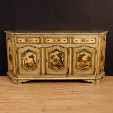 Antique Painted Sideboard Venetian Lacquered And Painted Sideboard 1950s For Sale At Pamono