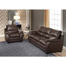 Sofa And Armchair Abbyson Monarch 3 Piece Top Grain Leather Sofa Set Free Shipping