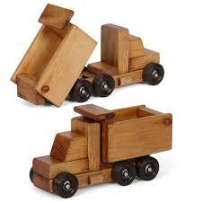 handmade wood working dump truck wooden construction amish handmade wood