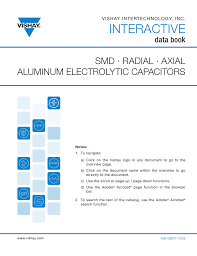 smd radial and axial aluminum electrolytic capacitors